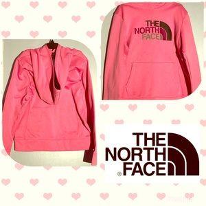 Pink north face sweatshirt